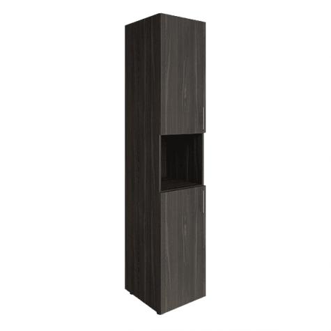 Шкаф узкий с нишей, цвет темный дуб