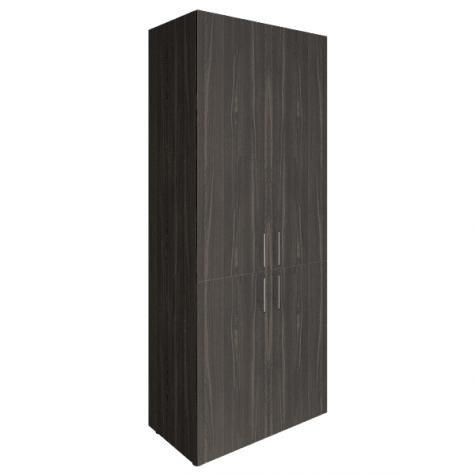 Шкаф закрытый 4-х дверный (2 вариант), цвет темное дерево