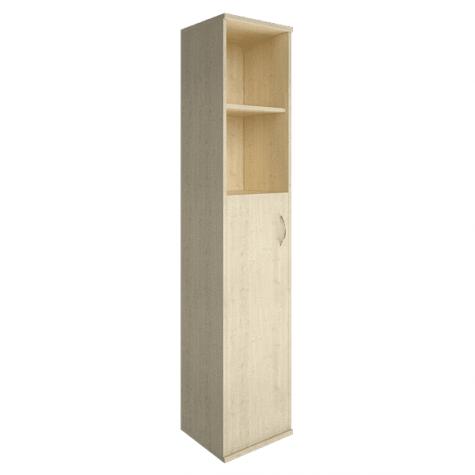 Шкаф высокий узкий 2 полки левый, цвет клен