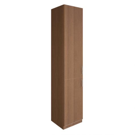 Шкаф узкий двухдверный закрытый, цвет орех
