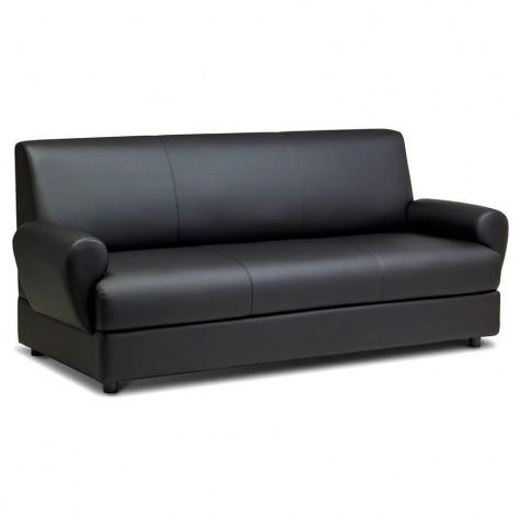 Диван 3-местный, цвет черный