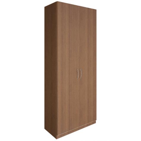 Шкаф двухдверный закрытый, цвет орех