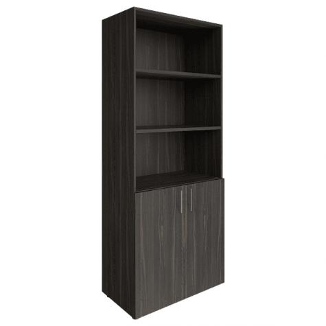 Шкаф высокий (3 открытые полки), цвет темный дуб