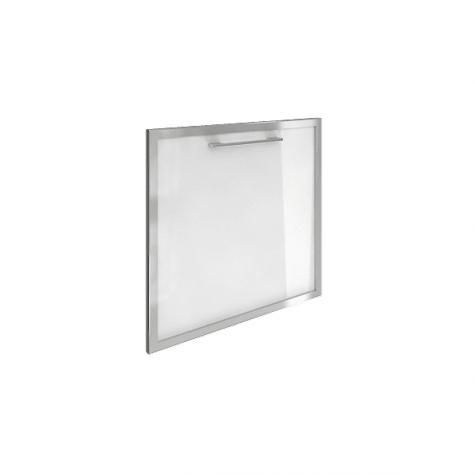 Дверь стекло в раме, цвет белый