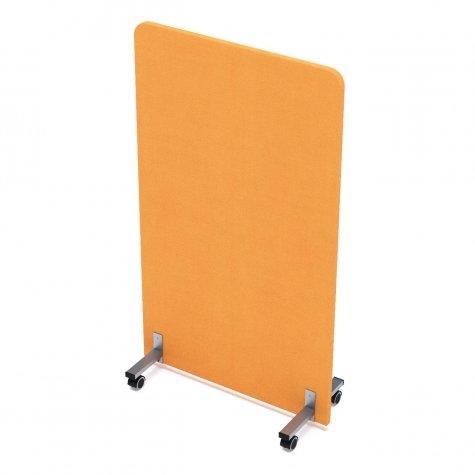 Перегородка мобильная акустическая, цвет микровелюр оранжевый