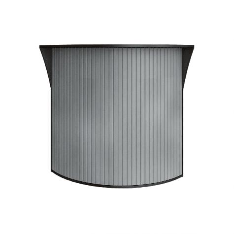 Ресепшн с угловыми элементами с пластиковой вставкой (имитация металла), цвет венге