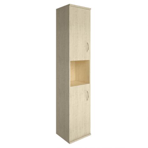 Шкаф высокий узкий с нишей левый, цвет клен