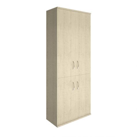 Шкаф высокий 4 глухие двери (вариант 2), цвет клен