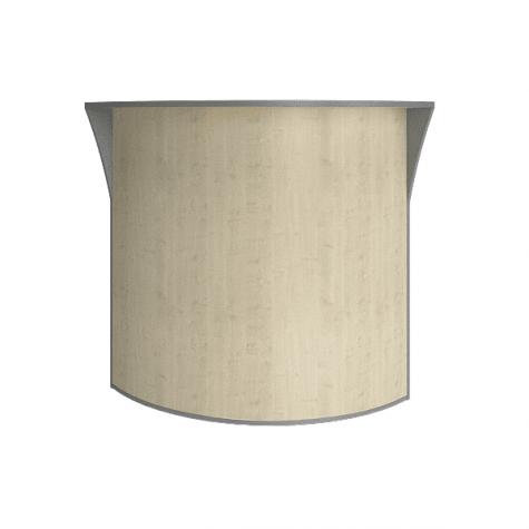 Стойка угловая (ДВП), цвет клен металлик