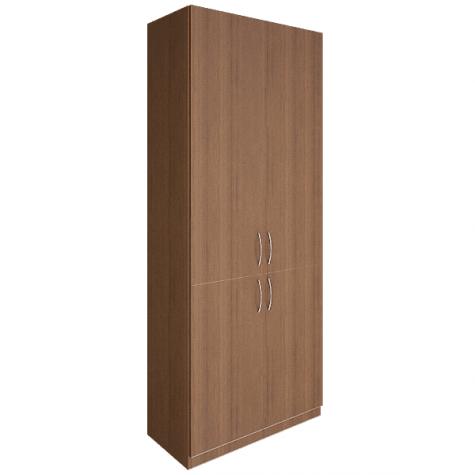 Шкаф четырехдверный закрытый, цвет орех