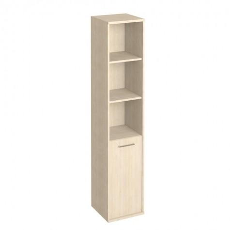 Шкаф узкий высокий (3 открытые полки), цвет клен