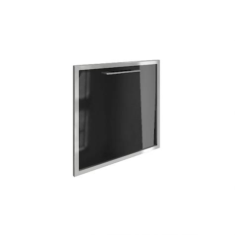 Дверь стекло в раме, цвет черный