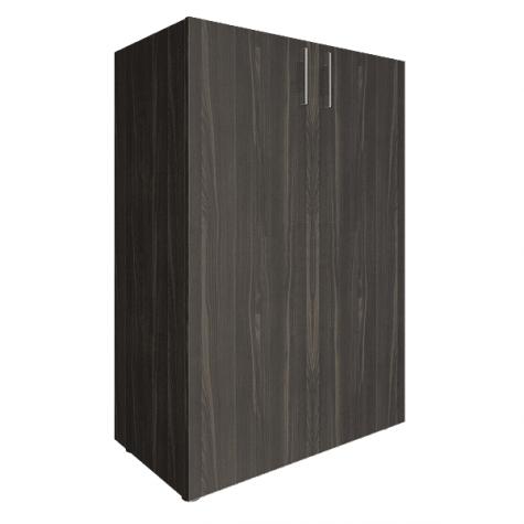Шкаф средний закрытый, цвет темный дуб