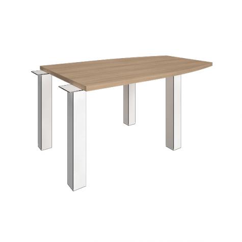 Элемент наборного переговорного стола (без опор), цвет акация
