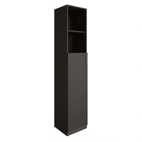 Шкаф узкий (2 открытые полки), цвет венге