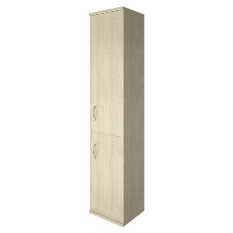 Шкаф высокий узкий 2 двери (вариант 1) правый, цвет клен
