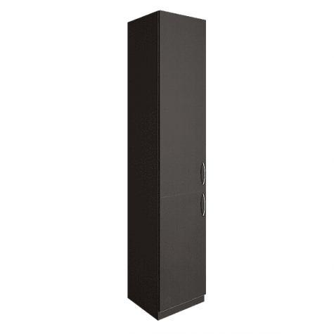 Шкаф узкий двухдверный закрытый, цвет венге