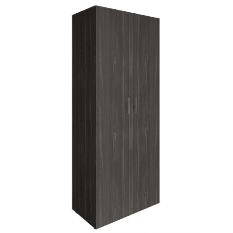 Шкаф закрытый 2-х дверный, цвет темное дерево