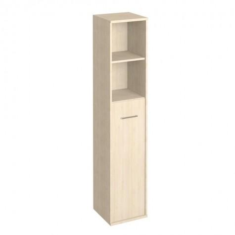 Шкаф узкий высокий (2 открытые полки), цвет клен