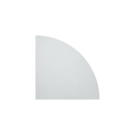 Сектор без опоры, цвет белый