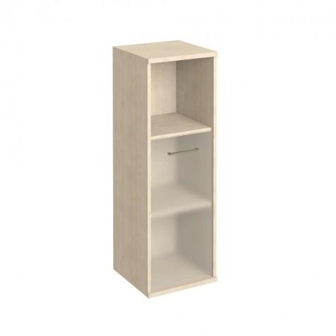 Шкаф узкий средний с матовым стеклом и полкой, цвет клен