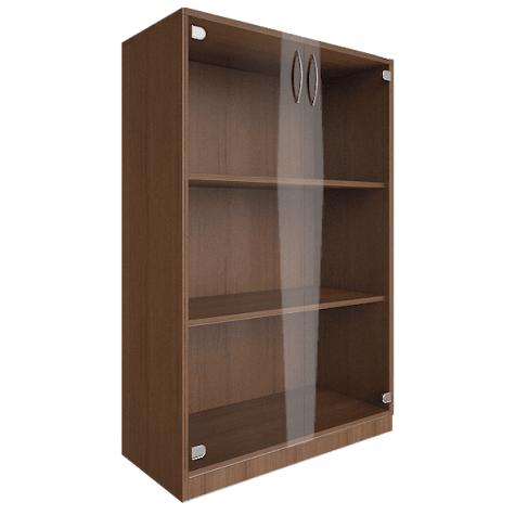 Шкаф средний со стеклом, цвет орех