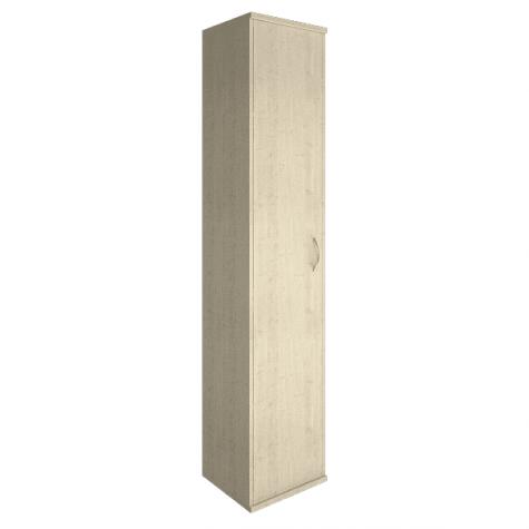 Шкаф высокий узкий закрытый левый, цвет клен
