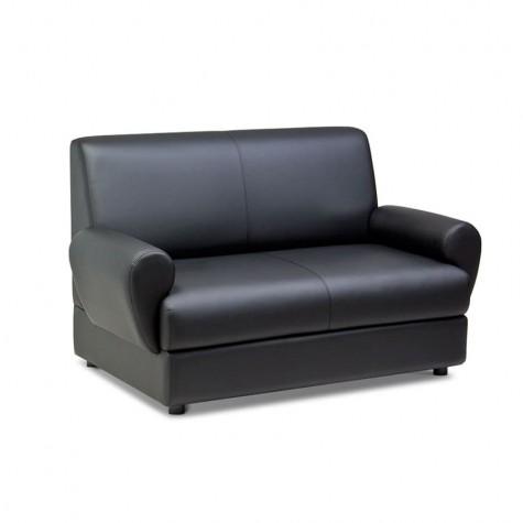 Диван 2-местный, цвет черный