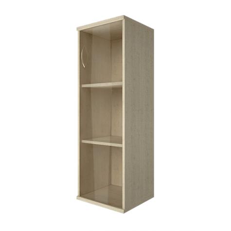 Шкаф средний узкий со стеклом правый, цвет клен