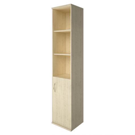 Шкаф высокий узкий 3 полки правый, цвет клен