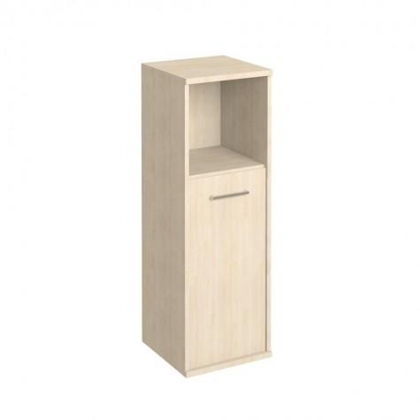 Шкаф узкий средний с открытой полкой, цвет клен