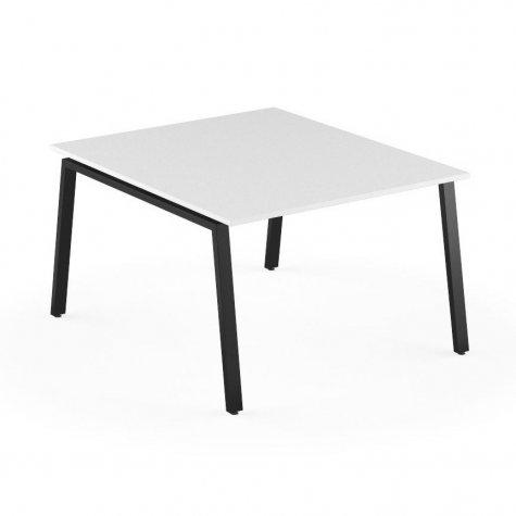 Стол на 2 рабочих места, цвет белый + черный