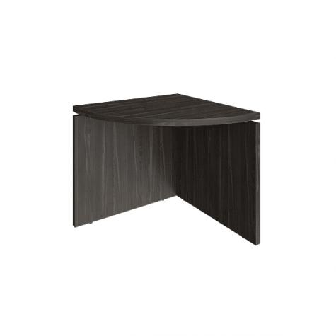Элемент наборного переговорного стола, цвет темное дерево