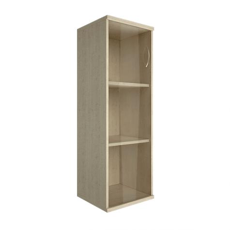 Шкаф средний узкий со стеклом левый, цвет клен