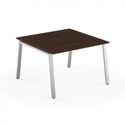 Стол на 2 рабочих места, цвет венге + алюминий
