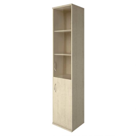 Шкаф высокий узкий (3 полки под стеклом) правый, цвет клен