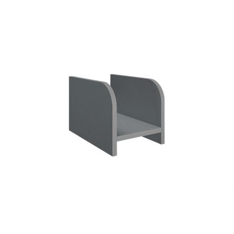 Подставка под системный блок, цвет металлик