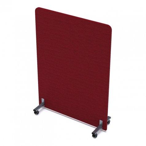 Перегородка мобильная акустическая, цвет рогожка красный