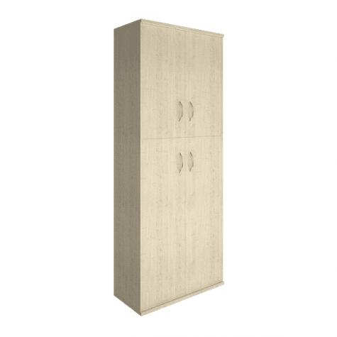 Шкаф высокий 4 глухие двери (вариант 1), цвет клен