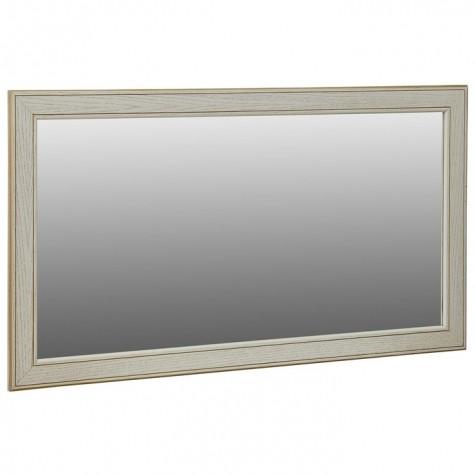 Зеркало В 61Н, цвет рамы - белый ясень, золото