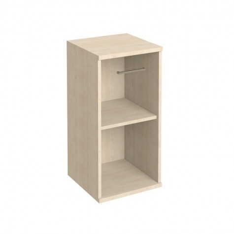 Шкаф узкий низкий с матовым стеклом, цвет клен