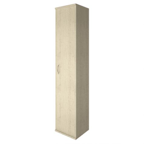 Шкаф высокий узкий закрытый правый, цвет клен