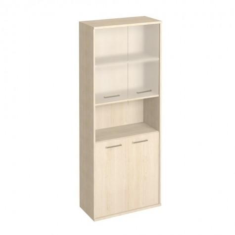 Шкаф с матовым стеклом и нишей, цвет клен