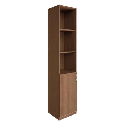 Шкаф узкий (3 открытые полки), цвет орех