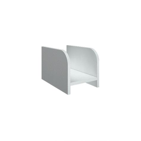 Подставка под системный блок, цвет белый