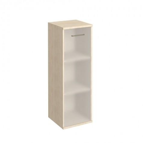 Шкаф узкий средний с матовым стеклом, цвет клен