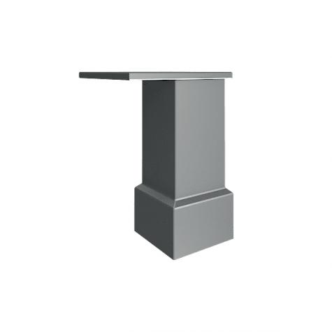 Опора для шкафов и тумб стационарных, цвет металлический