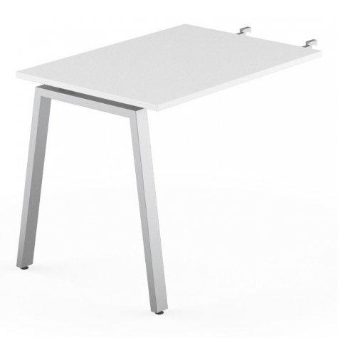 Брифинг-приставка, цвет белый + алюминий
