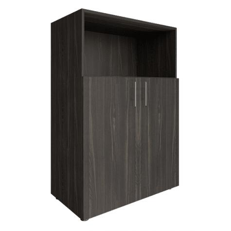 Шкаф средний с открытой полкой, цвет темное дерево