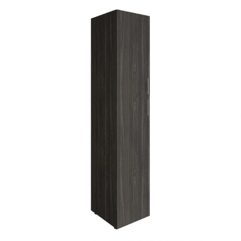 Шкаф узкий двухдверный закрытый (1 вариант), цвет темный дуб